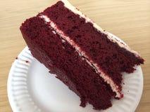 Roter Samt-Kuchen Stockbild