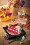 Roter Samt-Kuchen Lizenzfreies Stockbild