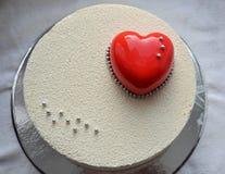 Roter Samt-Kuchen Lizenzfreie Stockbilder