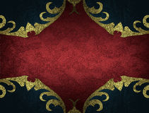 Roter Samthintergrund mit schwarzem Rahmen Element für Entwurf Schablone für Entwurf kopieren Sie Raum für Anzeigenbroschüre oder Stockbild