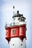 Roter Sand vintage lighthouse Royalty Free Stock Photo