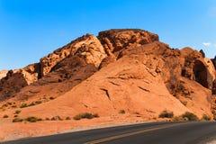 Roter Sandstein am Tal des Feuer-Nationalparks Lizenzfreie Stockfotos