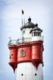 Roter-Sandweinleseleuchtturm Lizenzfreies Stockfoto