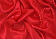 Roter Satin Stockbild