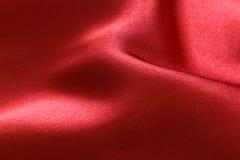 Roter Satinhintergrund Lizenzfreies Stockbild