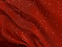 Roter Satinhintergrund mit Sternen Stockfotos