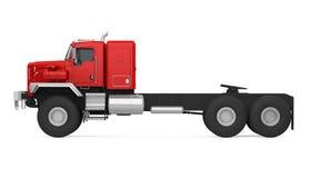 Roter Sattelschlepper-LKW lokalisierte stock abbildung