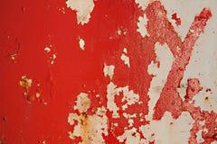 Roter Schalenmetallschmutzhintergrund lizenzfreies stockbild