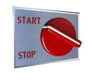 Roter Schalter Start-Stopp Stockbilder