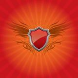 Roter Schild Hintergrund Lizenzfreie Stockbilder