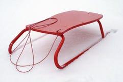 Roter Schlitten Stockfotografie