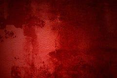 Roter Schmutz Hintergrund mit schmutziger roter Farbe Stockbild
