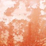 Roter Schmutzzement-Wandhintergrund Stockbild