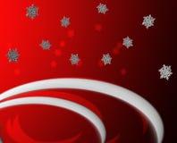 Roter Schnee-Gruß Stockbilder