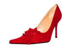 Roter Schuh stockfotos