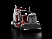 Roter schwerer LKW Stockfoto