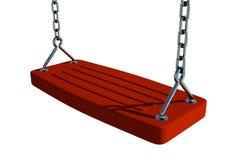 Roter Schwingen-Sitz Stockfoto
