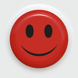 Roter smiley Lizenzfreies Stockfoto