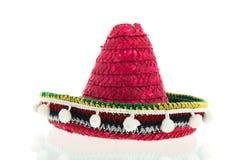 Roter Sombrero Stockfoto