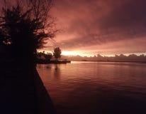 Roter Sonnenaufgang Stockfoto