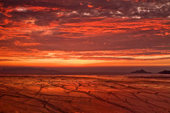Roter Sonnenaufgang Lizenzfreie Stockbilder