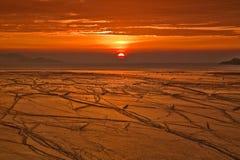 Roter Sonnenaufgang Lizenzfreie Stockfotos