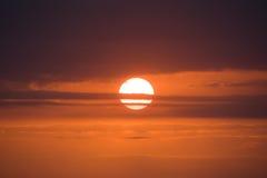 Roter Sonnenuntergang stockbilder