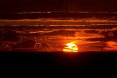 Roter Sonnenuntergang Lizenzfreies Stockbild