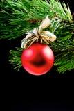 Roter Spielzeug cristmas Baum Stockfoto