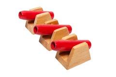 Roter Spielzeugkanon Stockbilder