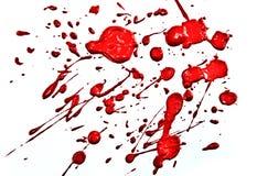 Roter Splatter Stockfotos