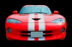 Roter Sport-Autoschwarzes Hintergrund Stockfotografie