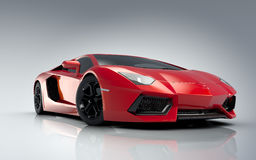 Roter Sportwagen Stockfoto