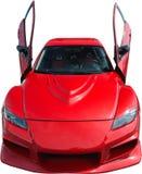 Roter Sportwagen getrennt auf Weiß Lizenzfreie Stockfotografie