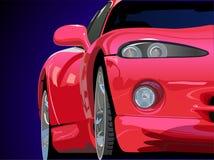 Roter Sportwagenvektor Lizenzfreie Stockfotografie