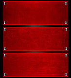 Roter Stahlhintergrund der abstrakten Missgunst Stockbilder