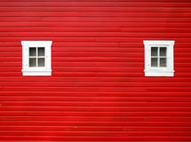Roter Stall Stockfotografie