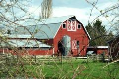 Roter Stall Stockbild