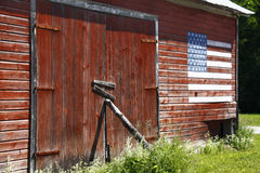 Roter Stall, amerikanische Flagge