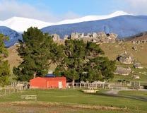 Roter Stall, Schloss-Hügel Neuseeland Stockbild