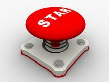 Roter Startknopf Stockbild