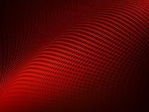 Roter Steigungshintergrund der abstrakten Halbtonpunkte lizenzfreie abbildung