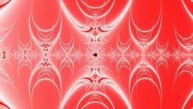 Roter Steigungshintergrund mit Grenadine und weißem abstraktem Fractalmuster vektor abbildung