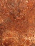 Roter Stein im Steinbruch Lizenzfreie Stockfotos