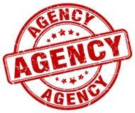 roter Stempel der Agentur lizenzfreie abbildung