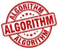 roter Stempel des Algorithmus lizenzfreie abbildung