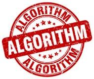 roter Stempel des Algorithmus stock abbildung