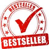 Roter Stempel des Bestsellers Stockfoto