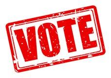 Roter Stempeltext der Abstimmung Stockbild