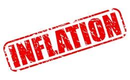 Roter Stempeltext der Inflation Lizenzfreie Stockbilder